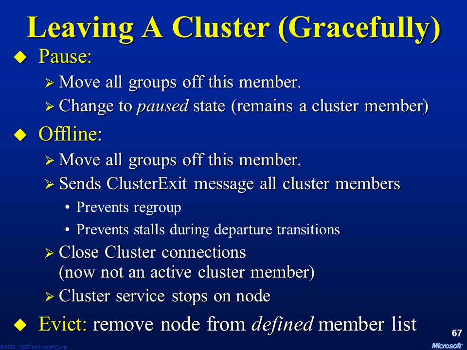 Leaving A Cluster (Gracefully)