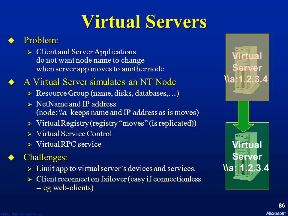 Virtual Servers Problem: Virtual Server