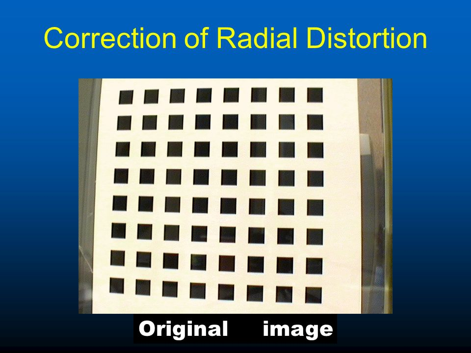 Correction of Radial Distortion