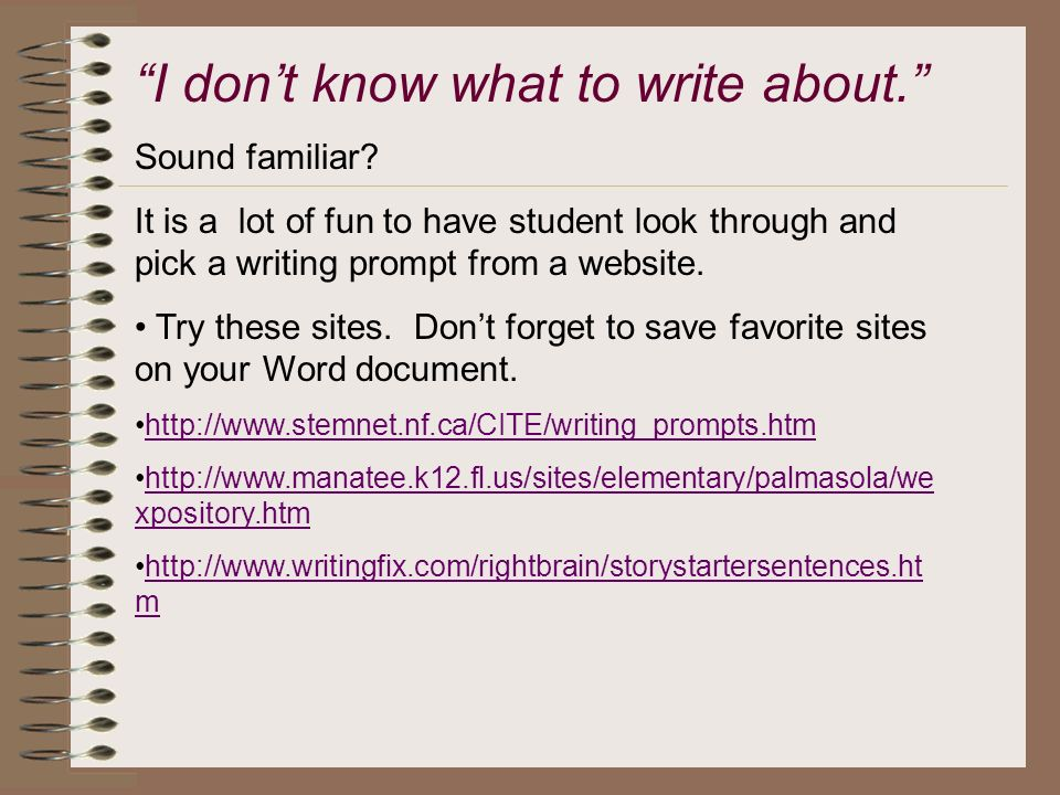 Writing sites for students