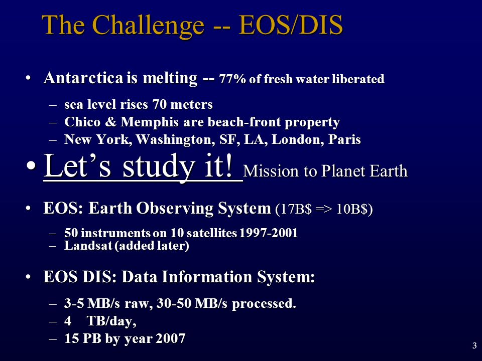 The Challenge -- EOS/DIS