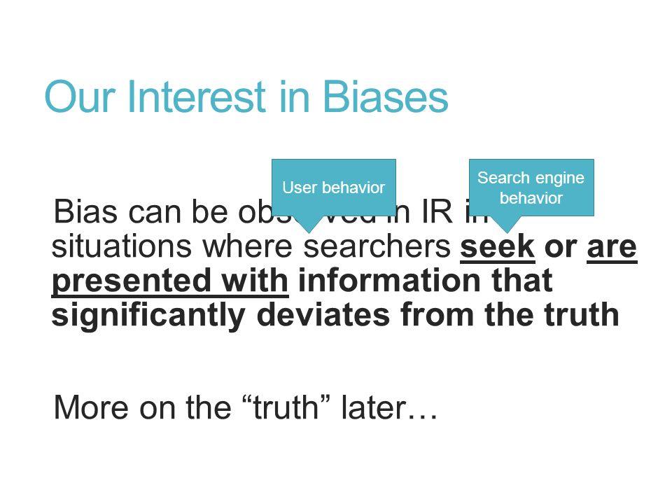Search engine behavior