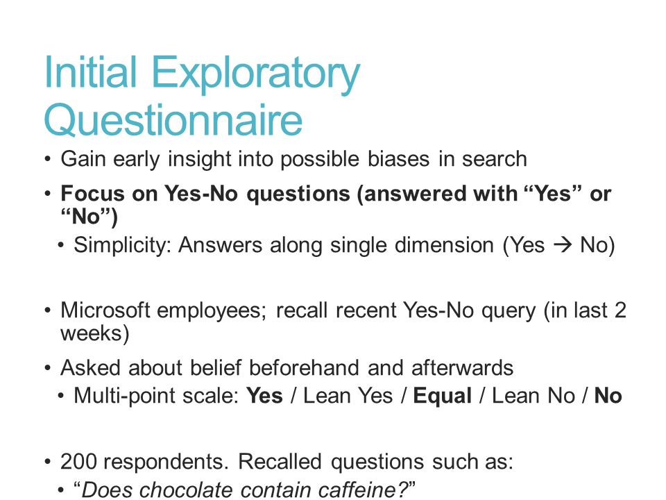 Initial Exploratory Questionnaire