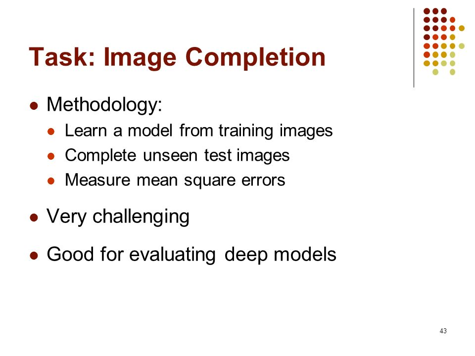 Task: Image Completion