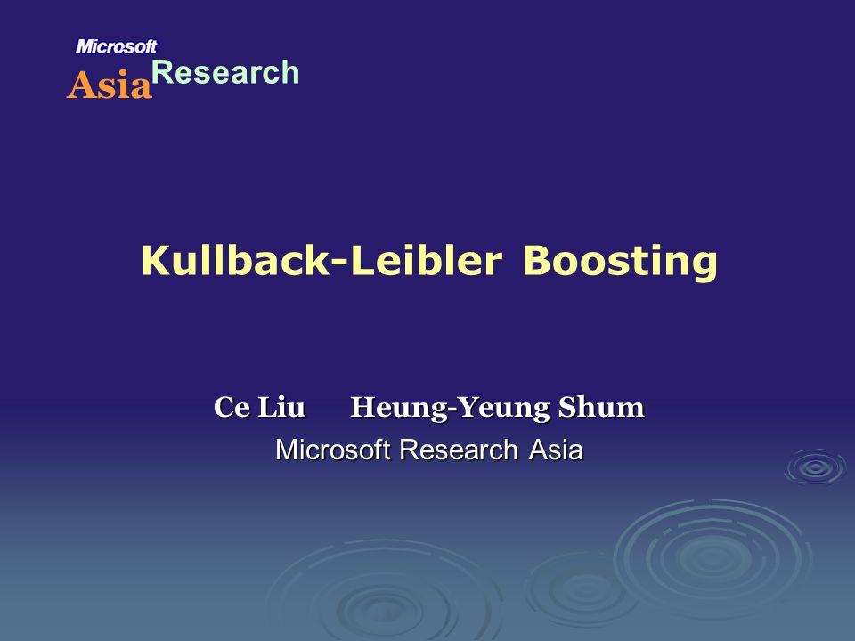Kullback-Leibler Boosting