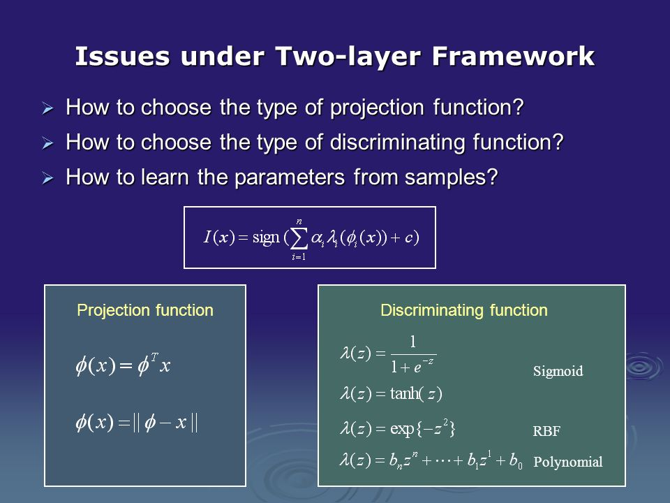 Issues under Two-layer Framework