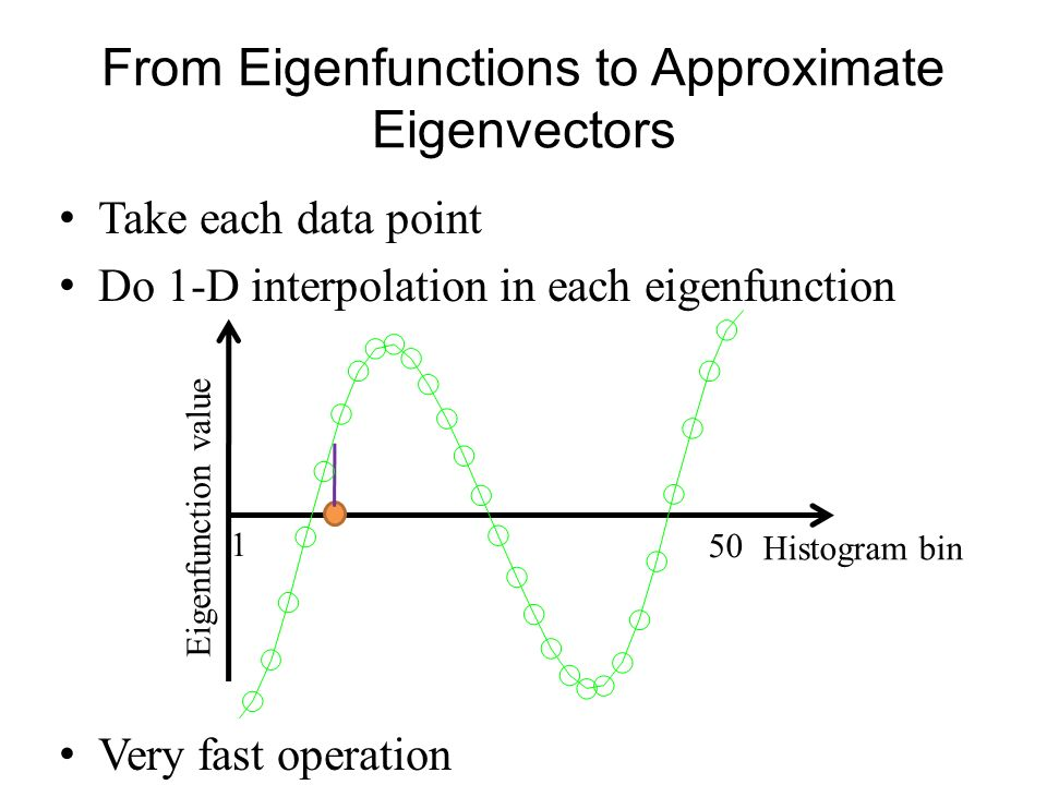 From Eigenfunctions to Approximate Eigenvectors