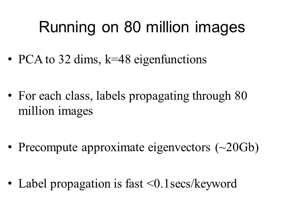 Running on 80 million images