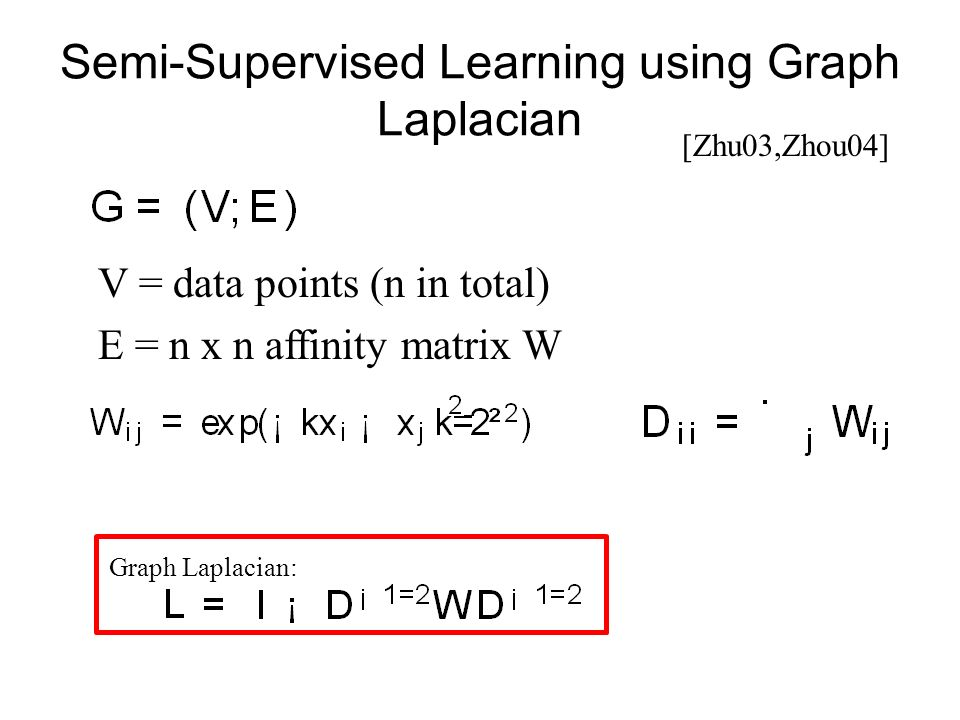 Semi-Supervised Learning using Graph Laplacian