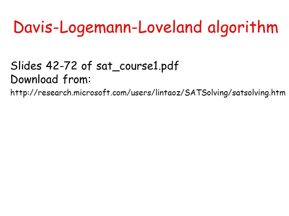 Davis-Logemann-Loveland algorithm