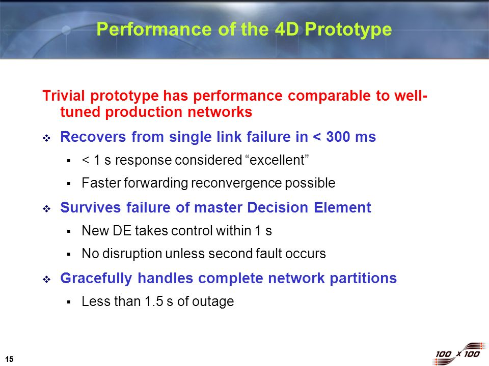 Performance of the 4D Prototype