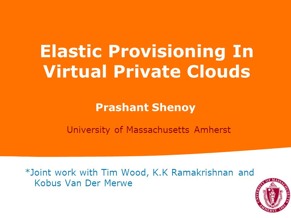 Elastic Provisioning In Virtual Private Clouds