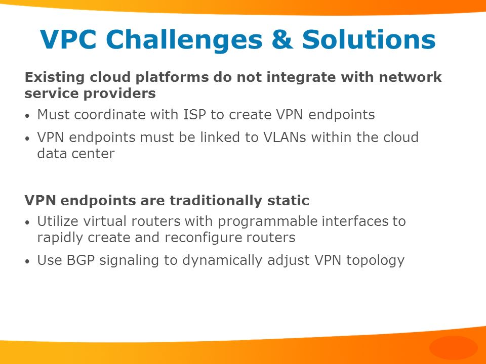 VPC Challenges & Solutions