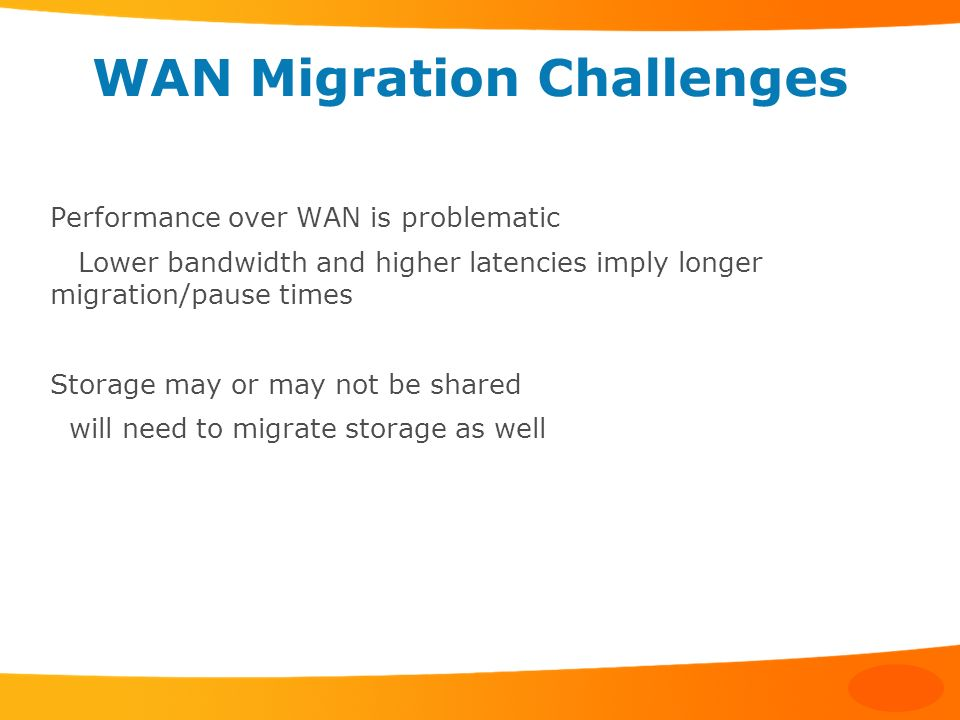 WAN Migration Challenges