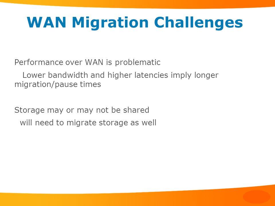 WAN Migration Challenges