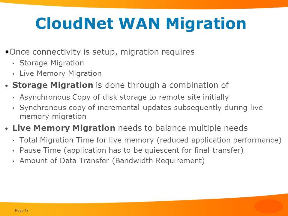 CloudNet WAN Migration