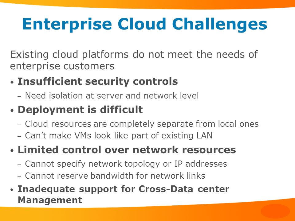Enterprise Cloud Challenges