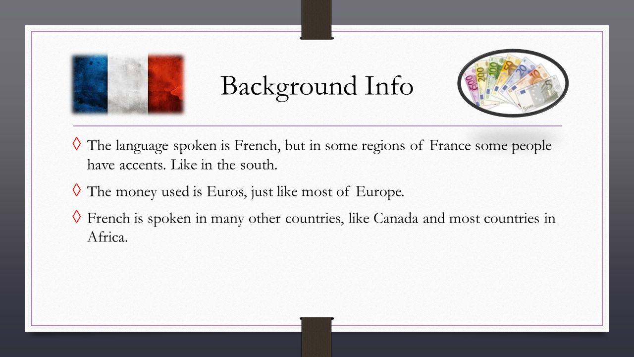 European Countries Where French Is Spoken Part - 44: Background Info The Language Spoken Is French, But In Some Regions Of France  Some People