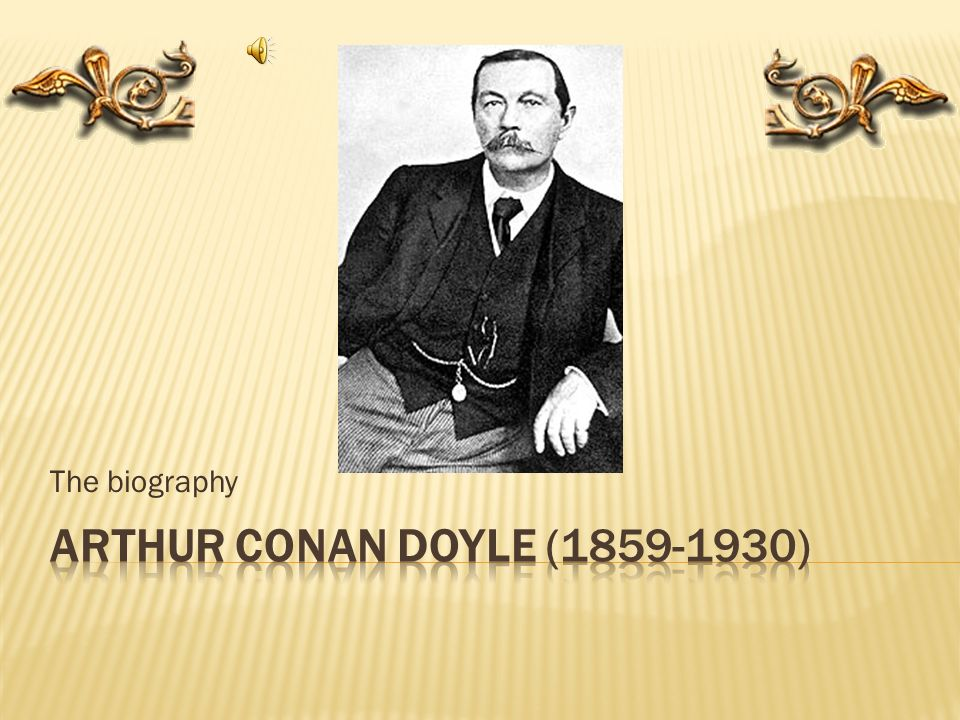 arthur conan doyle biography pdf