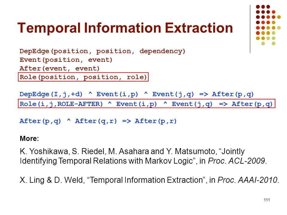 Temporal Information Extraction