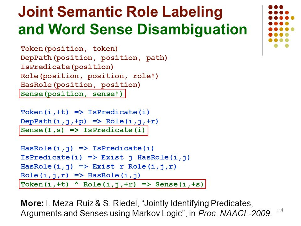 Joint Semantic Role Labeling and Word Sense Disambiguation