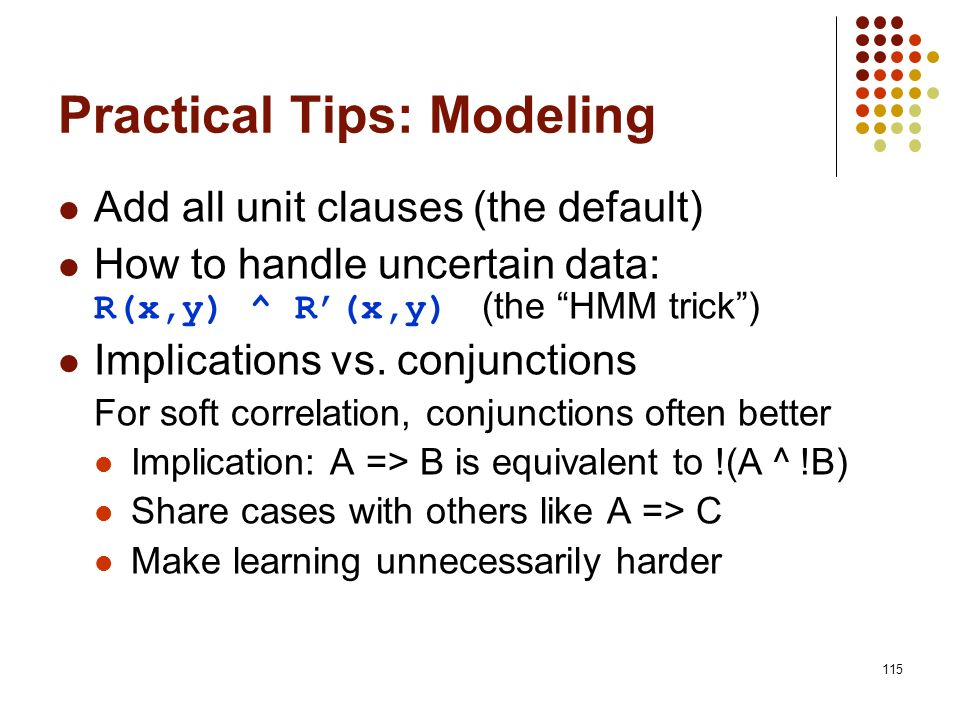 Practical Tips: Modeling