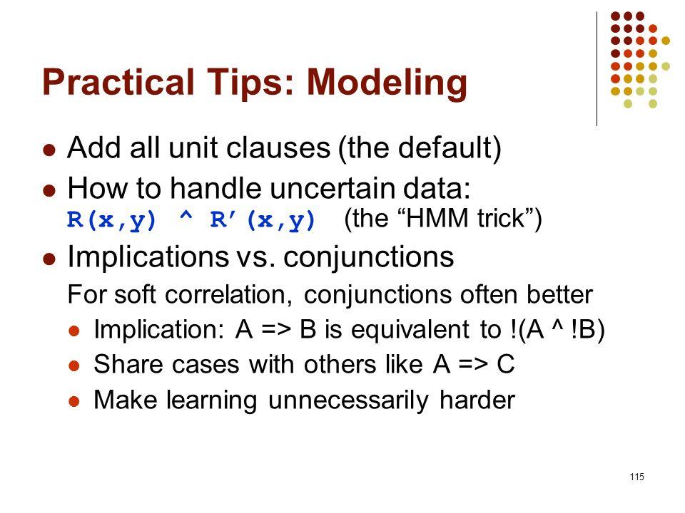 Practical Tips: Modeling