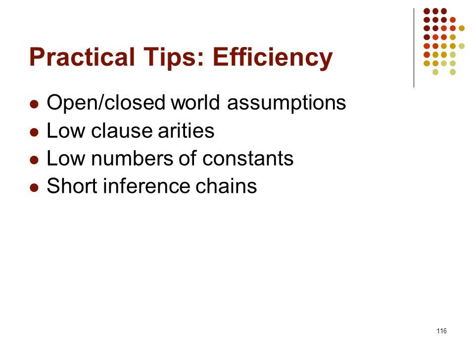 Practical Tips: Efficiency
