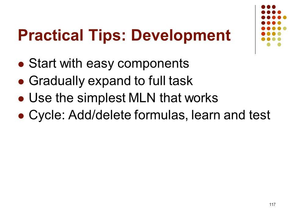 Practical Tips: Development