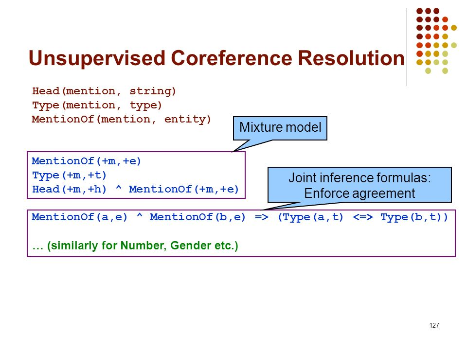Unsupervised Coreference Resolution