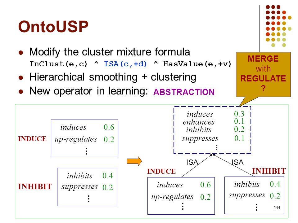 OntoUSP Modify the cluster mixture formula