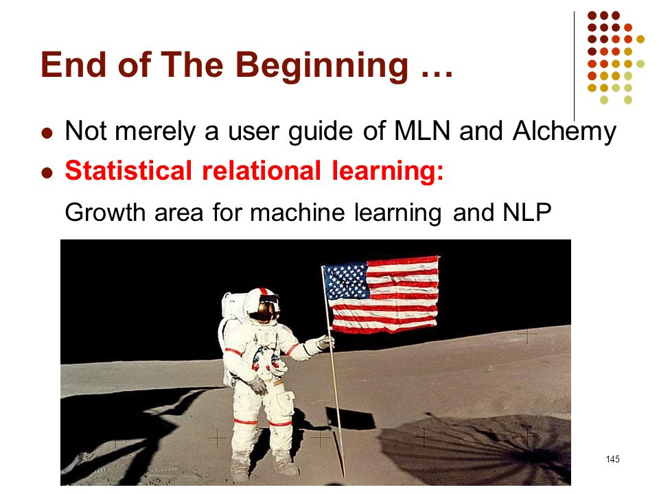 End of The Beginning … Growth area for machine learning and NLP