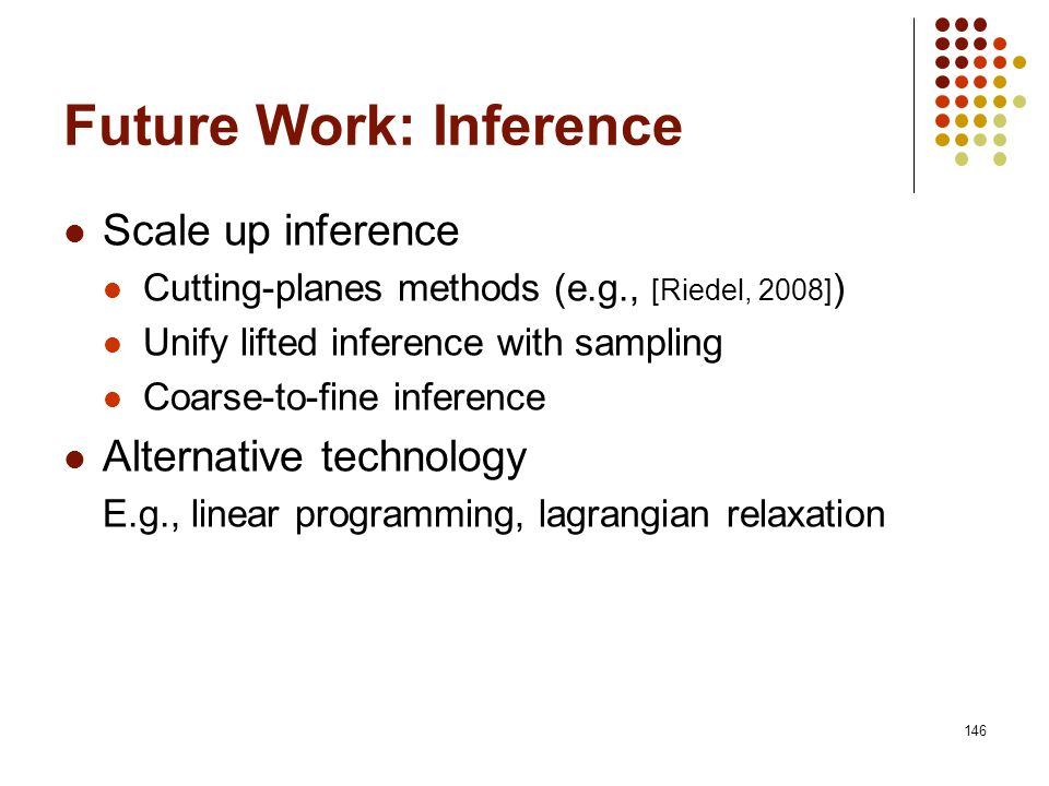 Future Work: Inference
