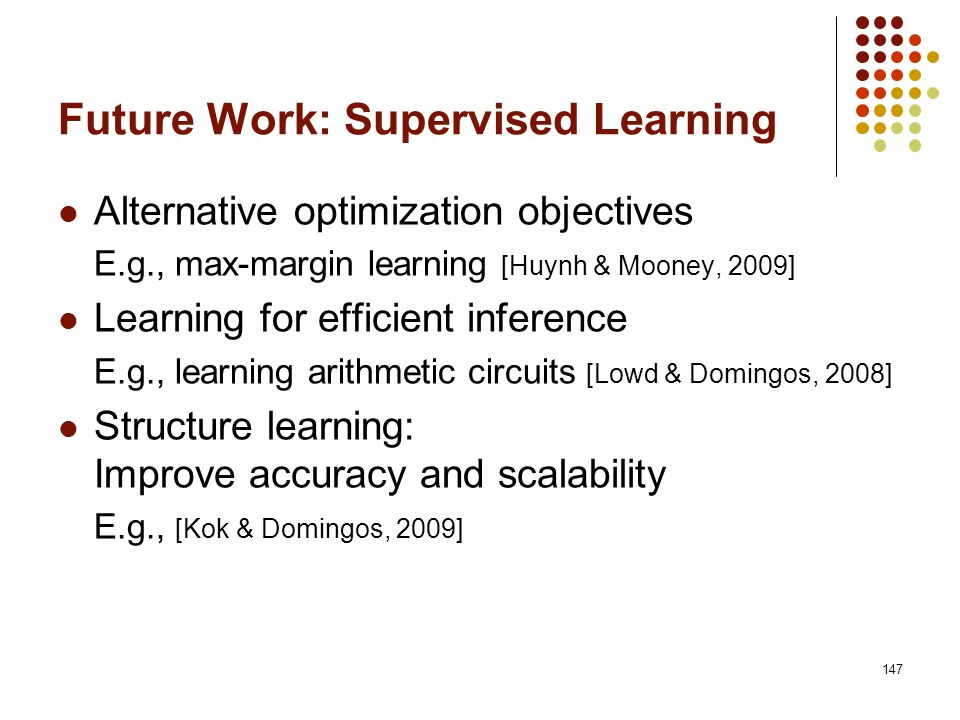 Future Work: Supervised Learning