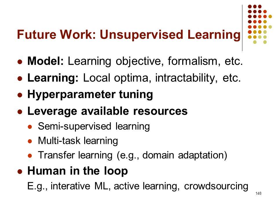 Future Work: Unsupervised Learning