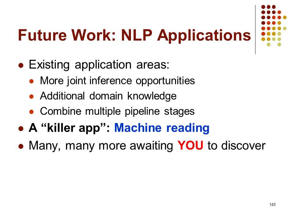 Future Work: NLP Applications