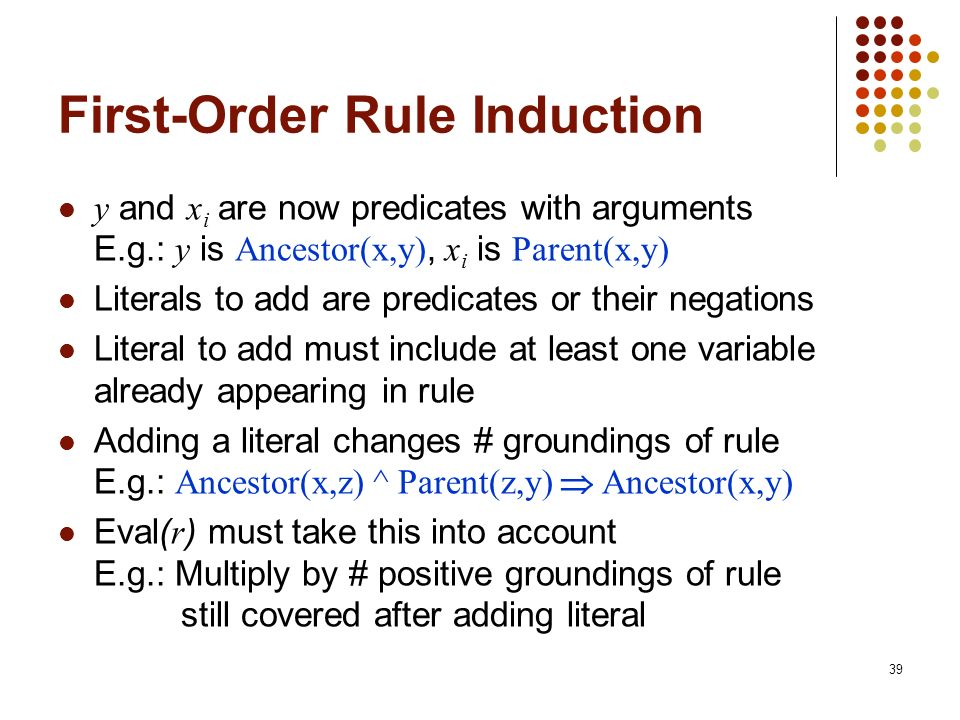 First-Order Rule Induction