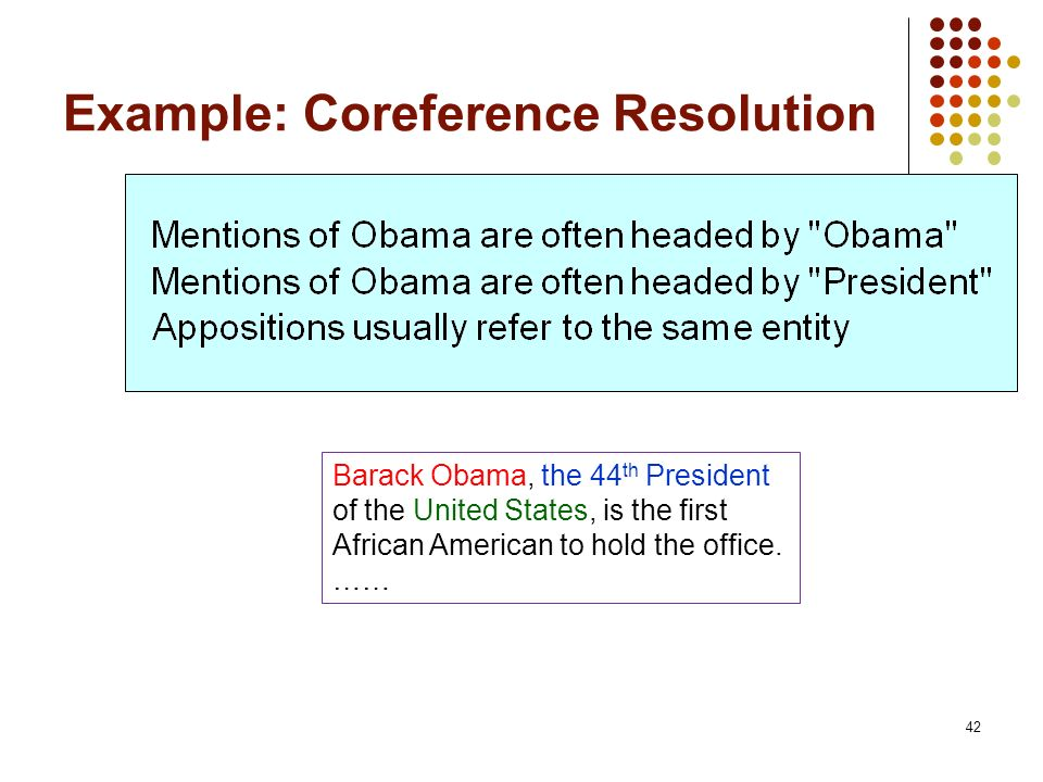 Example: Coreference Resolution