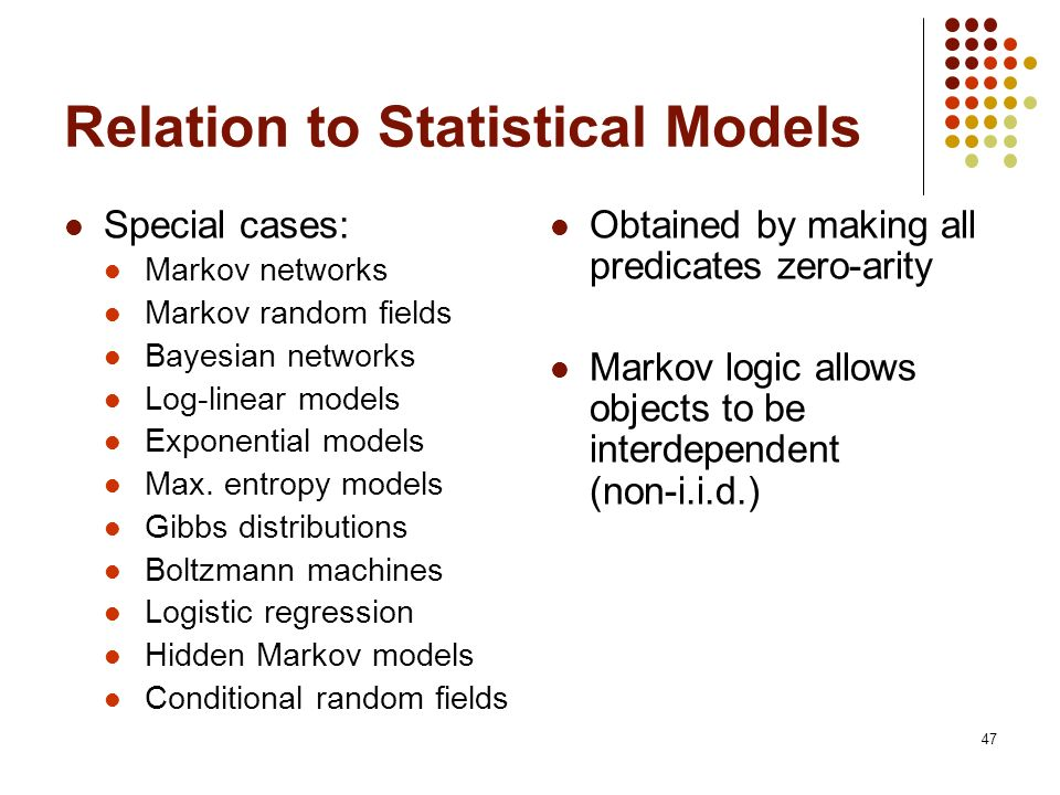 Relation to Statistical Models