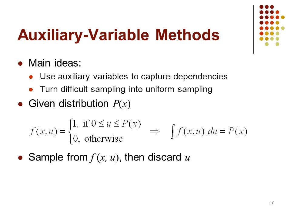 Auxiliary-Variable Methods