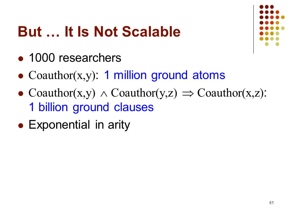 But … It Is Not Scalable 1000 researchers