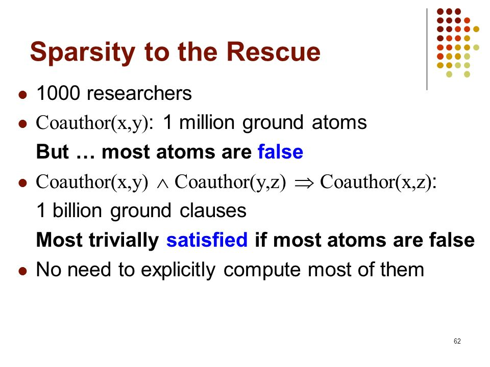 Sparsity to the Rescue 1000 researchers