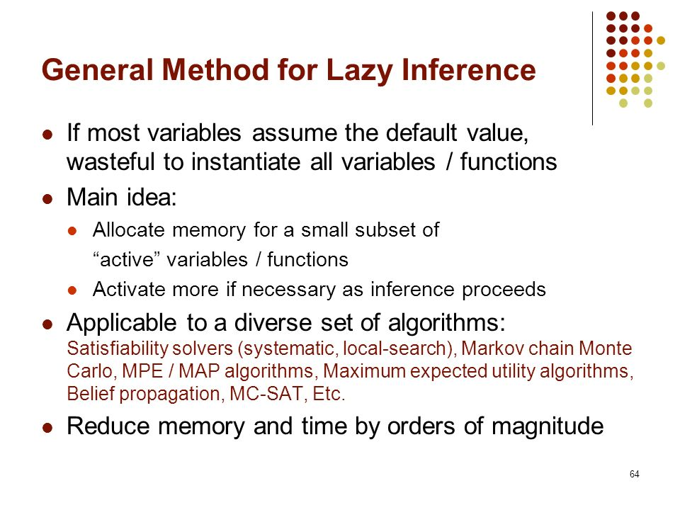 General Method for Lazy Inference
