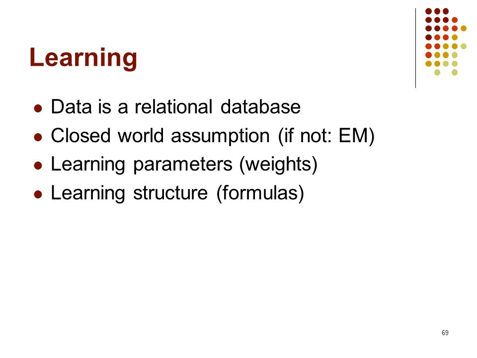 Learning Data is a relational database