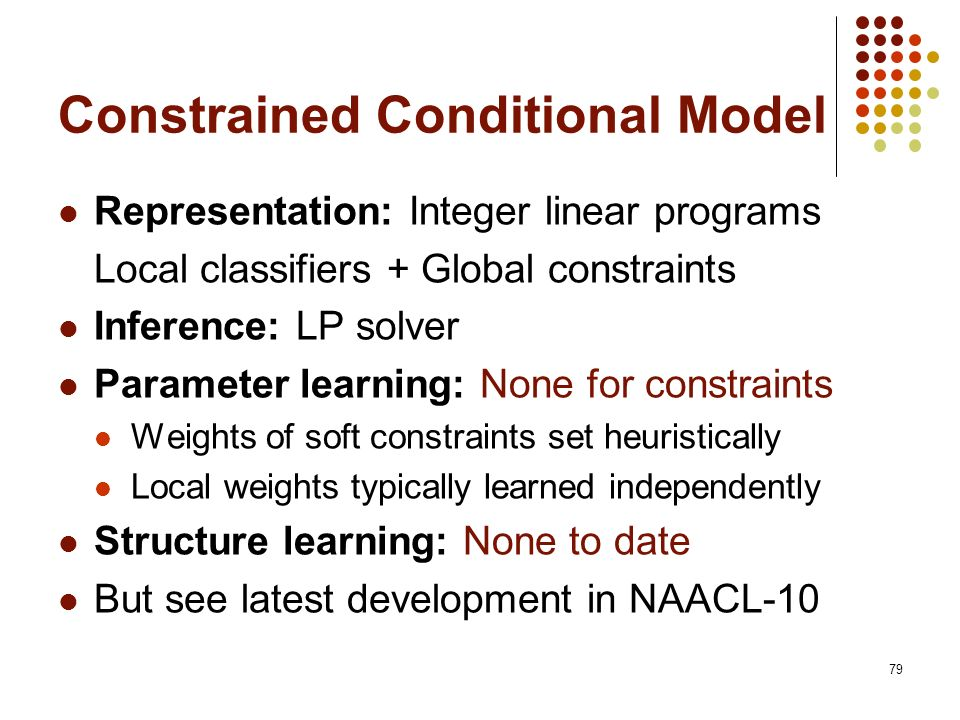 Constrained Conditional Model