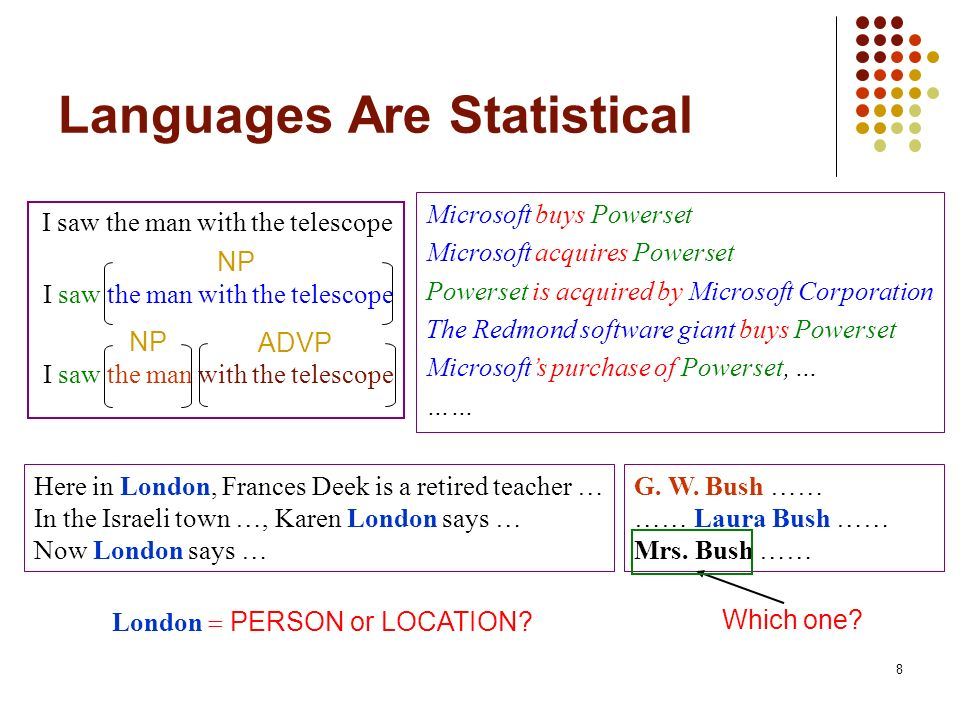 Languages Are Statistical