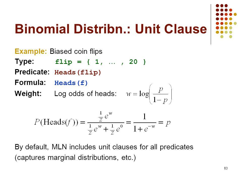 Binomial Distribn.: Unit Clause