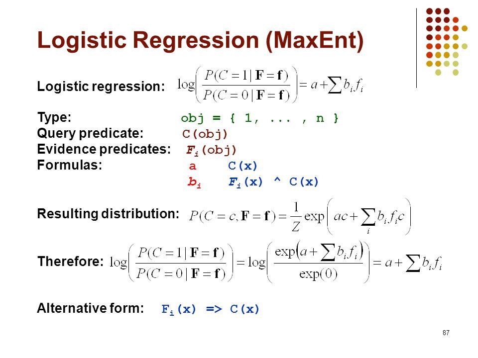 Logistic Regression (MaxEnt)