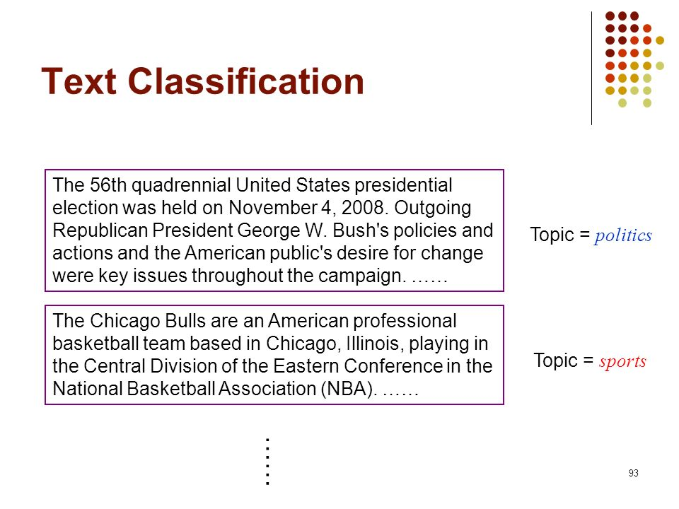 Text Classification ……