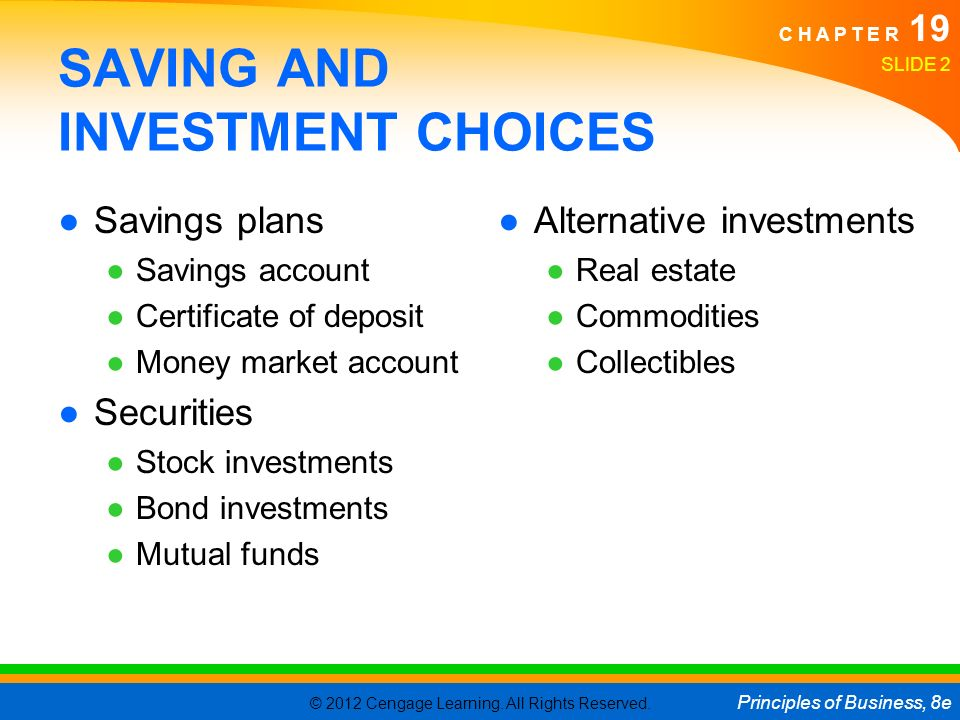 Facts on savings and investments in